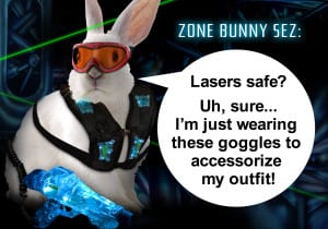 Laser Zone Bunny Sez: Are Laser Tag Lasers Safe? - Ultrazone